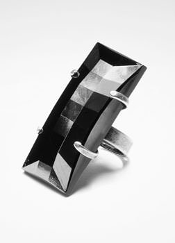 Sarah Pacini BLACK MIRROR RING Front