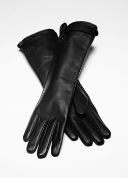 Sarah Pacini LONG LEATHER GLOVES Front