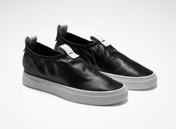 Sarah Pacini LEATHER SLIP ONS Front