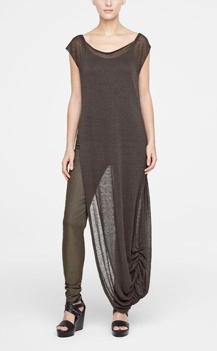 jurk met zijsplit