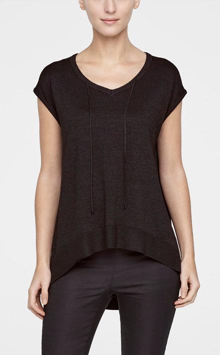 Zwarte Korte Trui.Zwarte Korte Trui Sarah Pacini