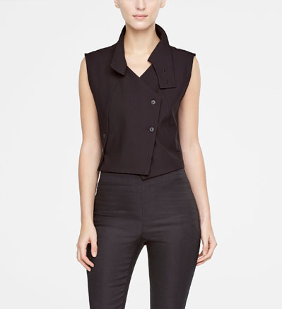 Sarah Pacini CROPPED VEST Front