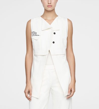 Sarah Pacini BUTTON-PANEL JACKET Front