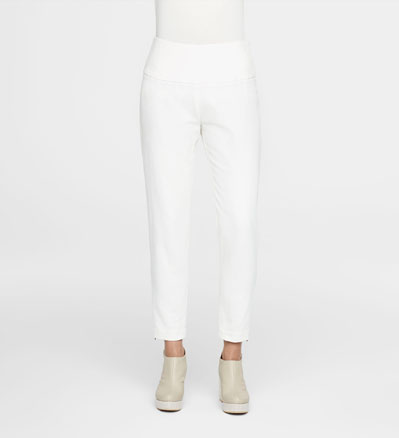 Sarah Pacini COTTON-LINEN ANKLE PANTS Front
