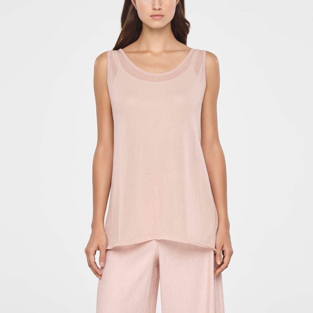 Sarah Pacini COTTON VEIL SWEATER - SLEEVELESS Front