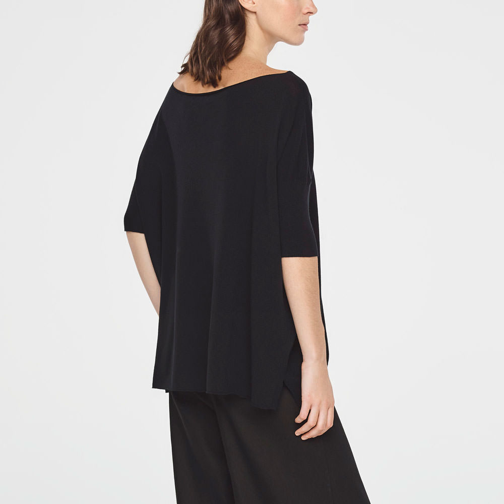 Sarah Pacini SUMMER SWEATER WITH SLITS Back view