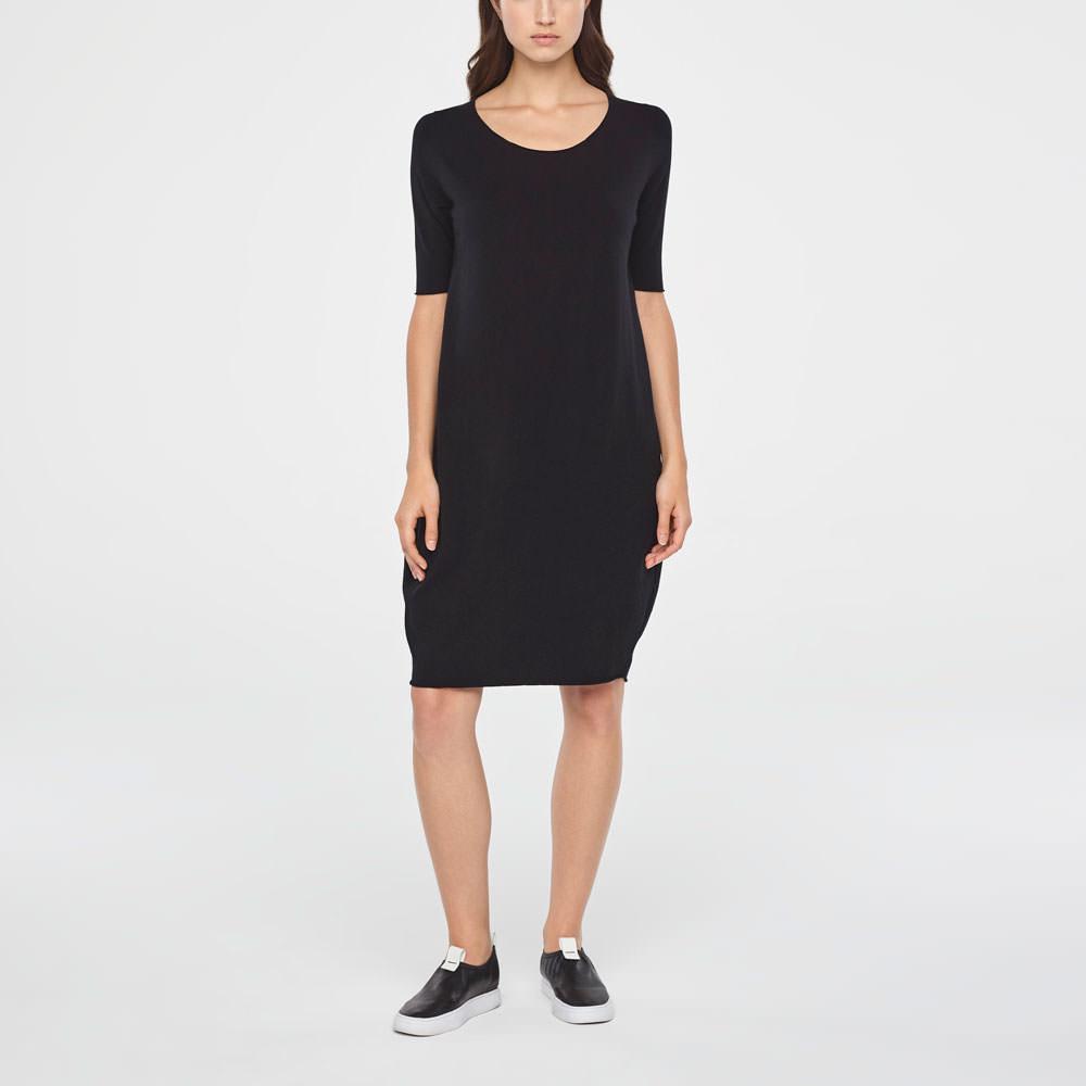 Sarah Pacini KNEE-LENGTH COTTON DRESS Front