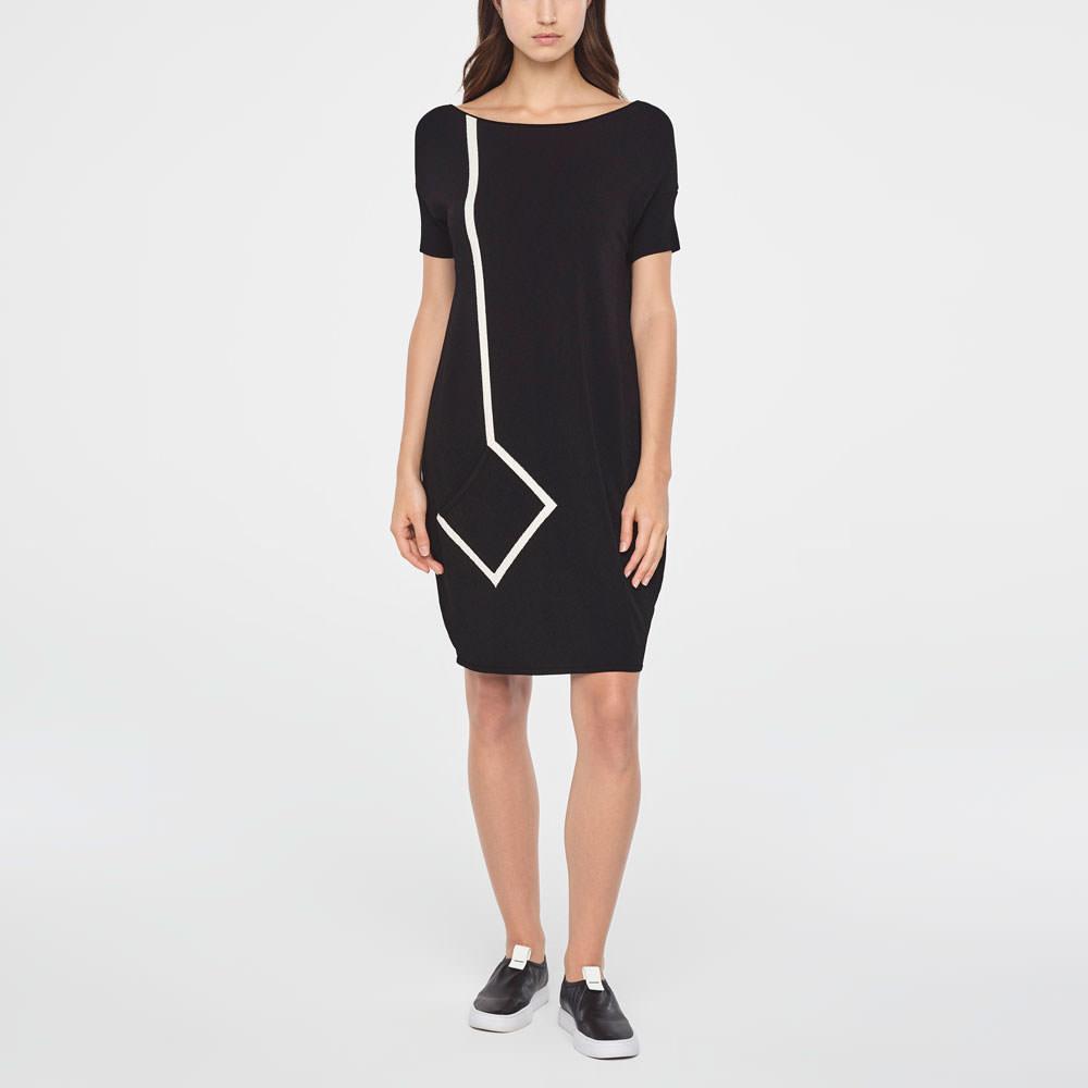 Sarah Pacini WHITE RIBBON DRESS Front