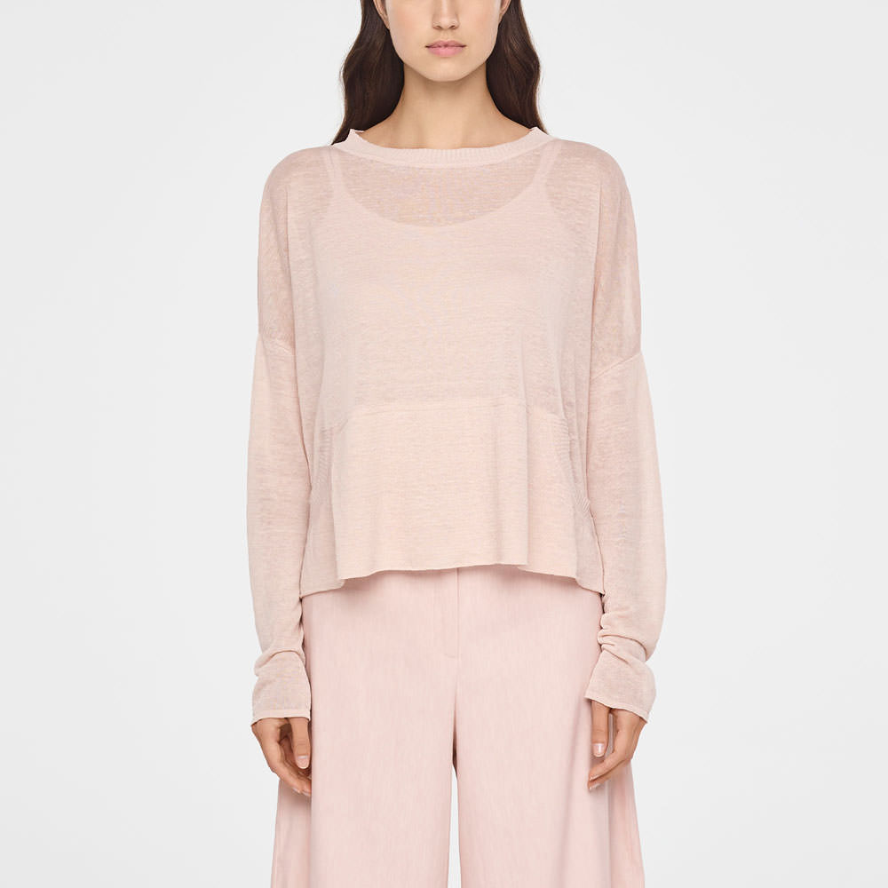 Sarah Pacini STREET-STYLE LINEN SWEATER Front
