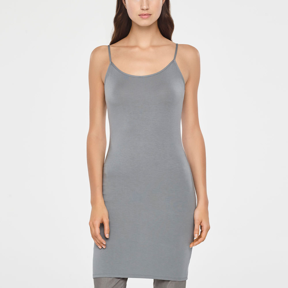 0cdd7c9e1e Grey modal cotton tunic by Sarah Pacini