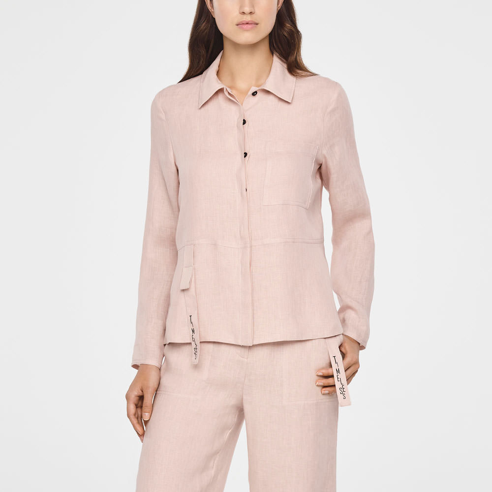 52d74ac2c15 Wear this with. S19 LOOK087. Sarah Pacini TIMELESS LINEN JACKET Front Sarah  Pacini TIMELESS LINEN JACKET Front