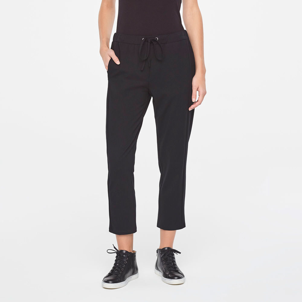Sarah Pacini STREET-STYLE DRAWSTRING PANTS IN JERSEY Front