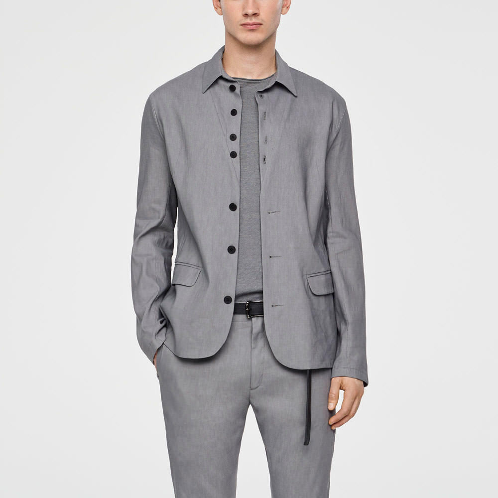 Sarah Pacini STRETCH-LINEN JACKET - BUTTONED Front
