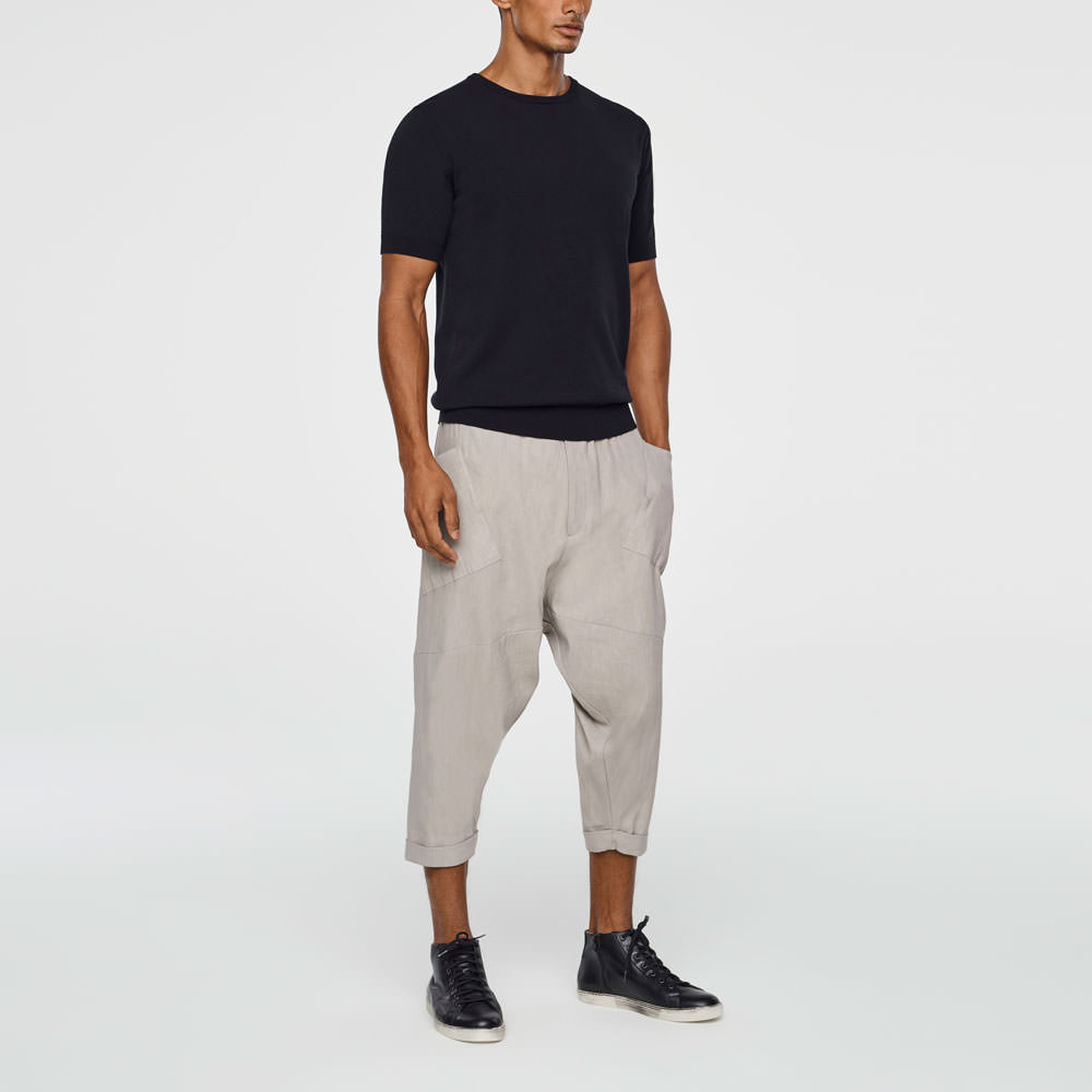 Sarah Pacini MEN'S SAROUEL PANTS - CROPPED Front