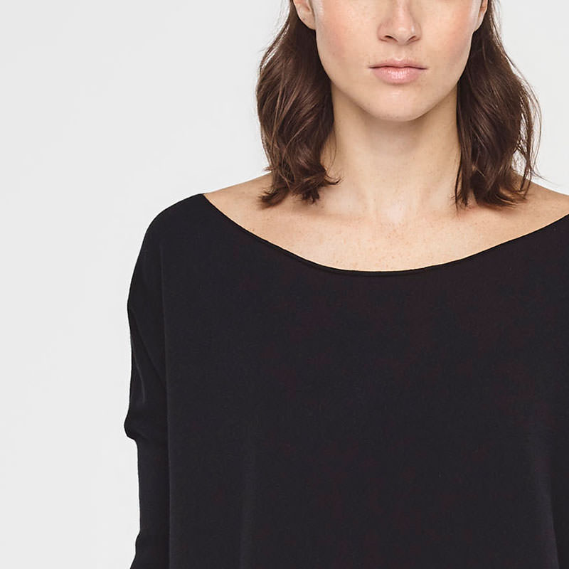 Sarah Pacini SUMMER SWEATER WITH SLITS Front