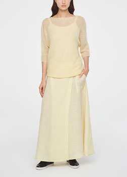 Sarah Pacini ULTRA-LIGHT MOHAIR-SWEATER - HALF SLEEVES Front