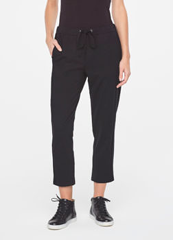 Sarah Pacini STREET-STYLE DRAWSTRING PANTS IN JERSEY Front