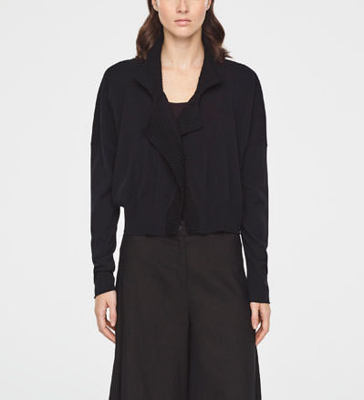 Sarah Pacini COTTON BOMBER - FULL SLEEVES Front
