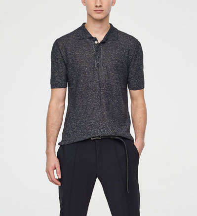 Sarah Pacini LIGHT LINEN POLO Front