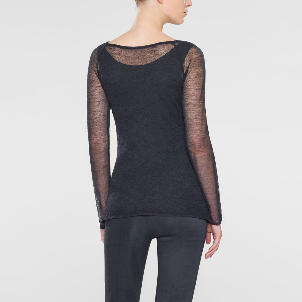 Sarah Pacini Long fitted sweater Back view