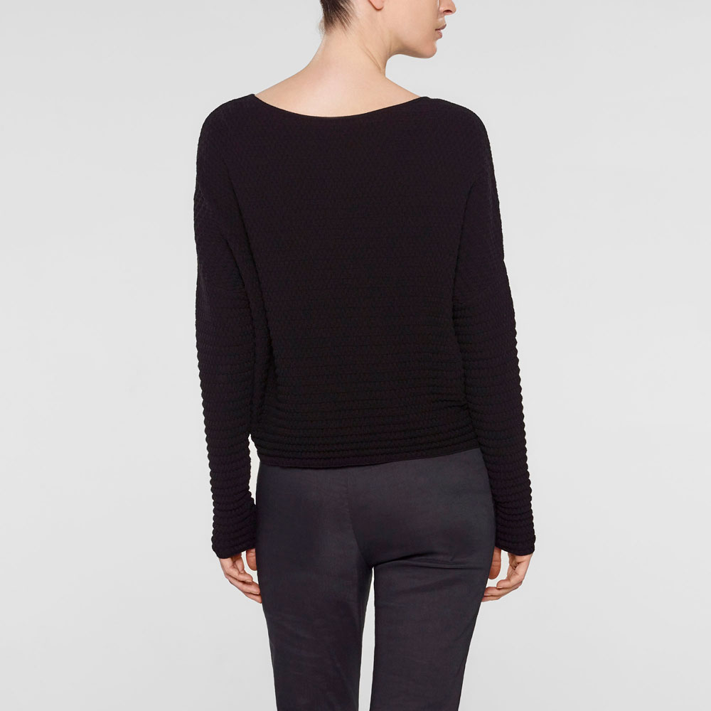 Sarah Pacini Cropped sweater, relaxed fit Back view