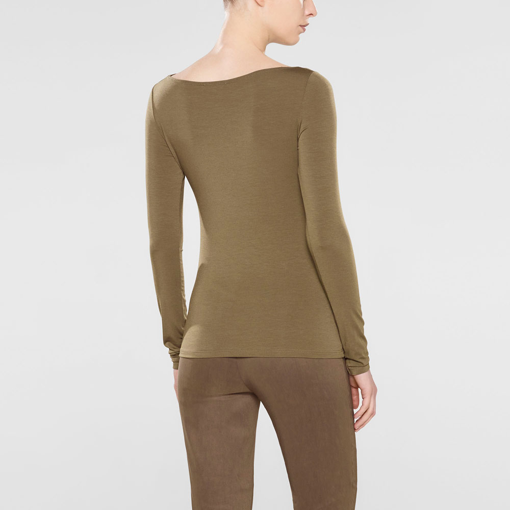 a863946a42 Yellow khaliya - long sleeve boat neck t-shirt by Sarah Pacini