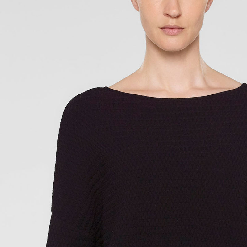 Sarah Pacini Cropped sweater, relaxed fit Front