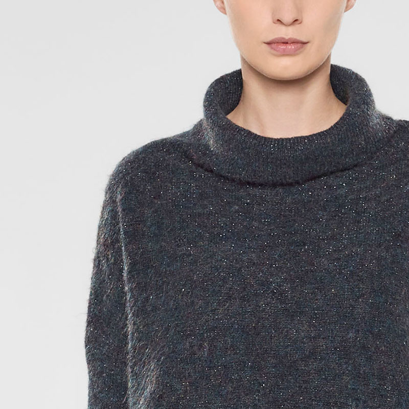 Sarah Pacini Funnel neck short sweater Front