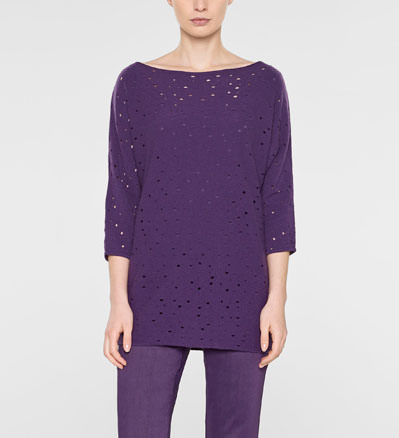 Sarah Pacini Long sweater, loose fit Front
