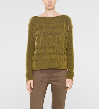 Sarah Pacini Short sweater, loose fit Front