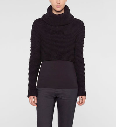 Sarah Pacini Funnel neck short sweater Front