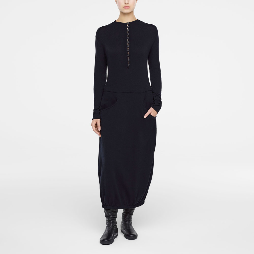 862bce7f0475b Black Long Sleeve Maxi Dress With Pockets - raveitsafe