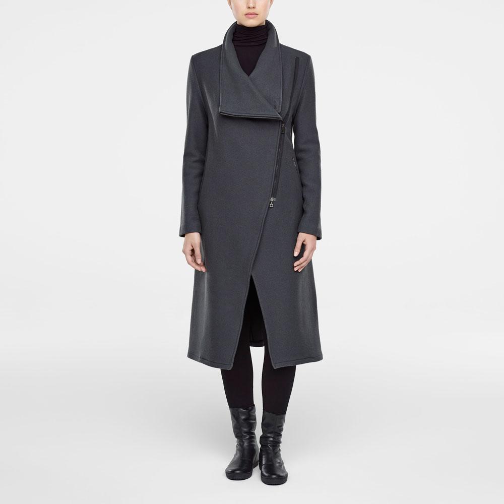 Mantel Von Seitlichem Grau Sarah Mit Maxi In Reissverschluss Pacini TBwxdq
