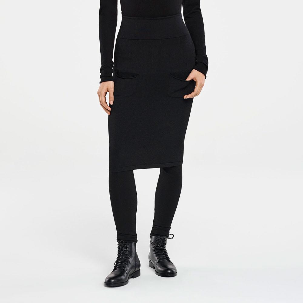 Sarah Pacini KNEE-LENGTH SKIRT - PATCH POCKETS Front