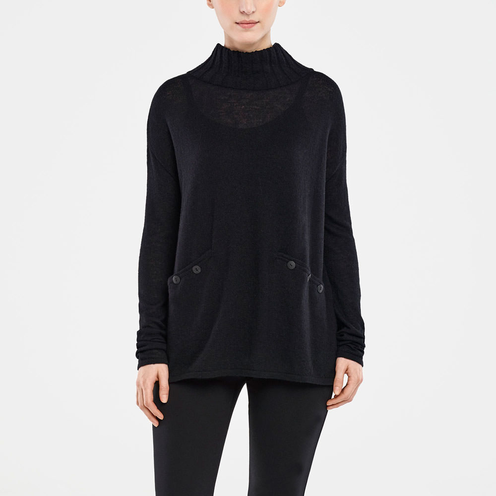 Sarah Pacini MOCK NECK SWEATER Front