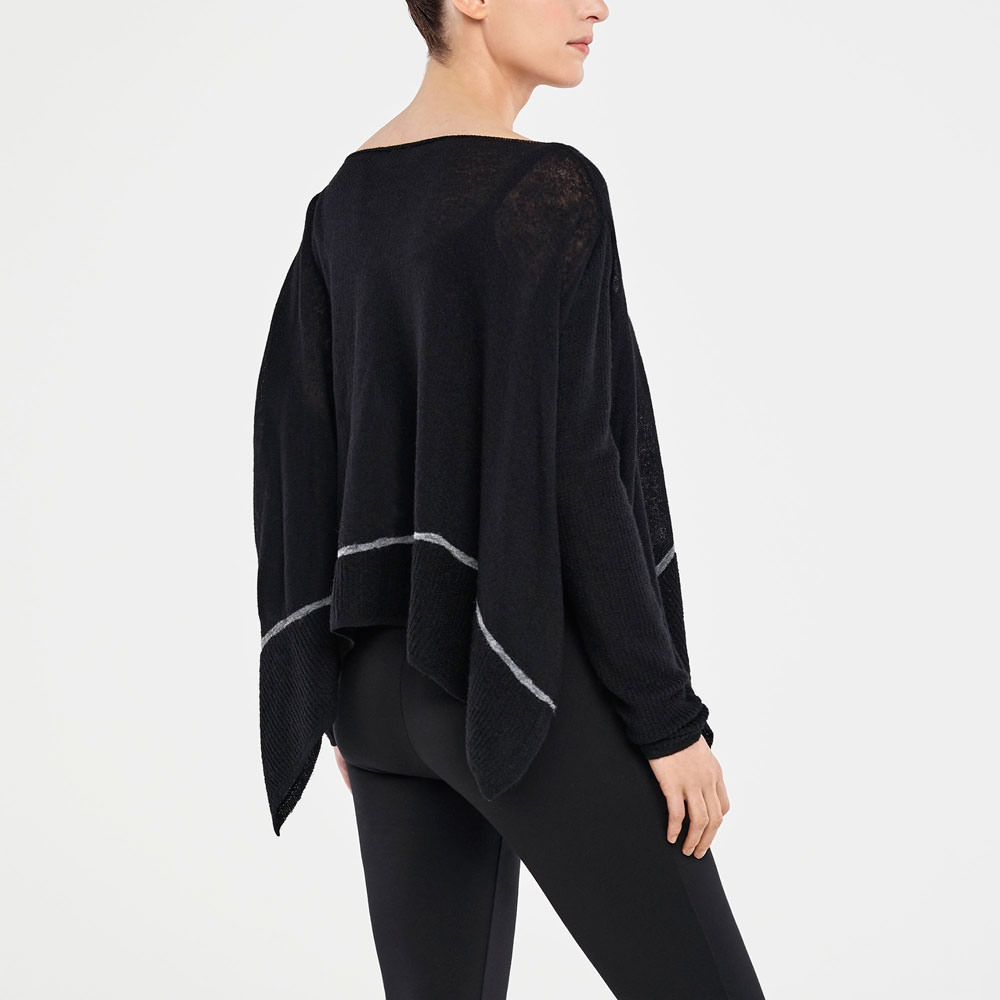 Sarah Pacini SWEATER - SIDE SLITS Back view