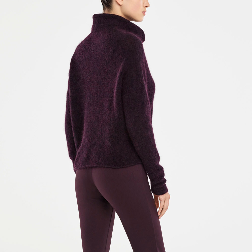 Sarah Pacini MOHAIR SWEATER - COWL NECK Back view