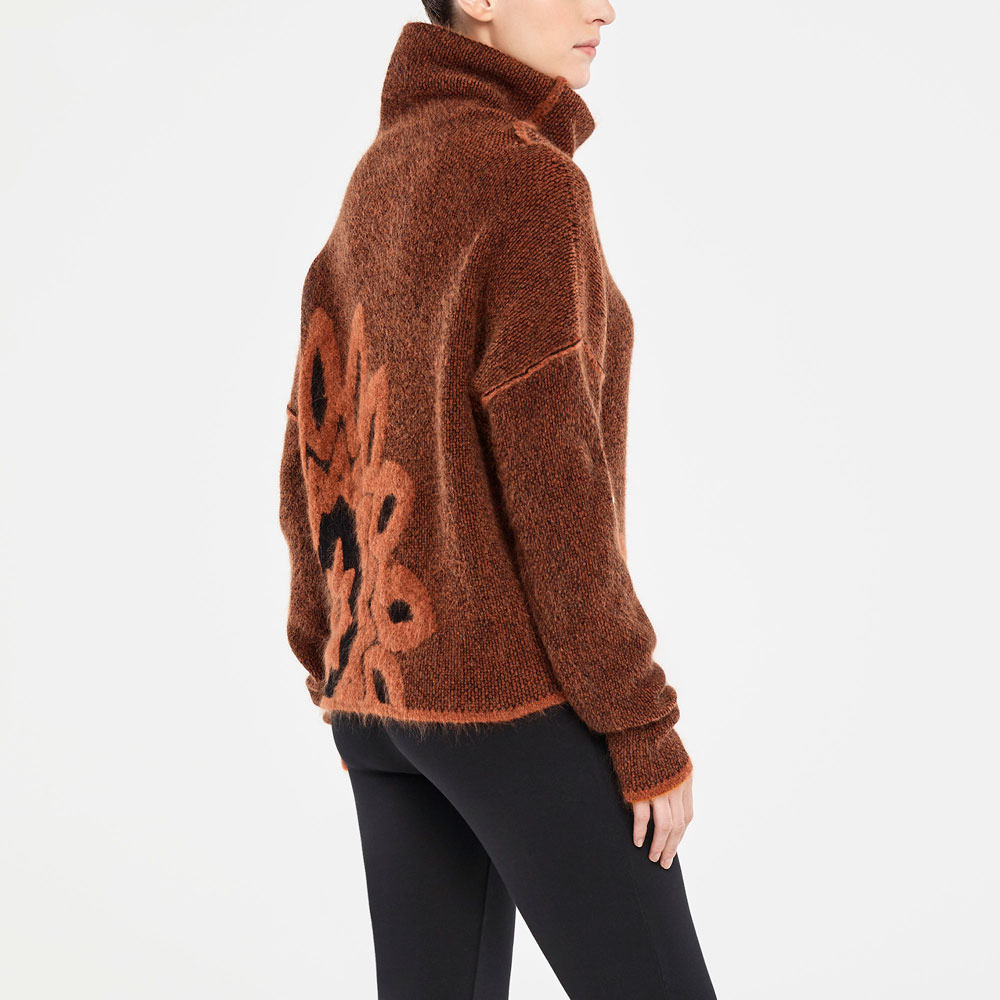 Sarah Pacini JACQUARD SWEATER Back view