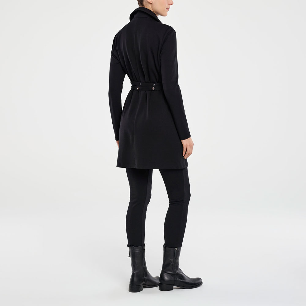 Sarah Pacini JERSEY JACKET - SNAP BUTTON BELT Back view