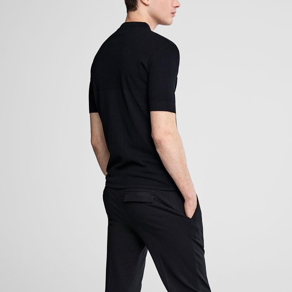 Sarah Pacini Zipped polo sweater - short sleeves Back view