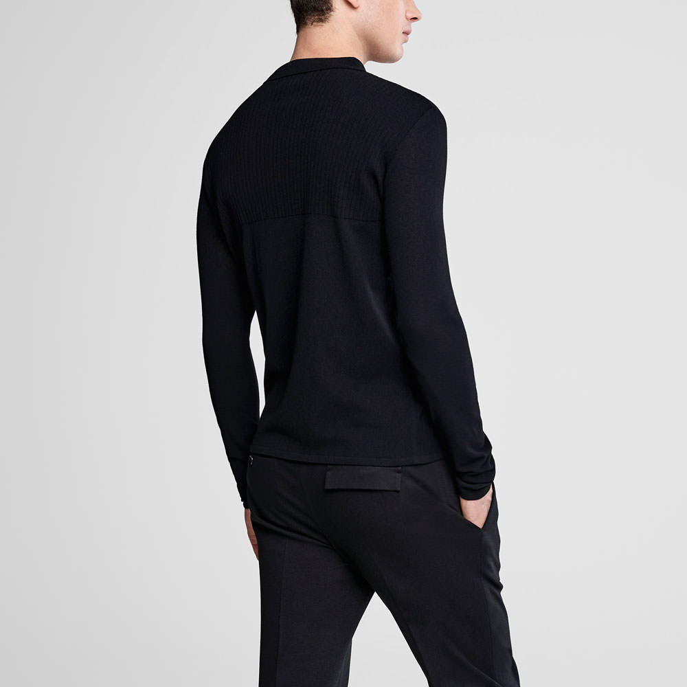 Sarah Pacini Zipped polo sweater Back view