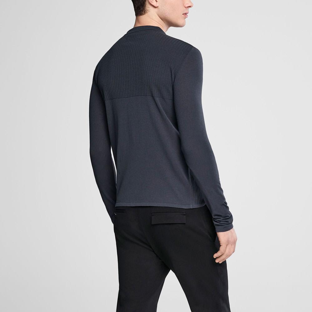68b75c371 ... switzerland sarah pacini zipped polo sweater back view 28f08 7fce2