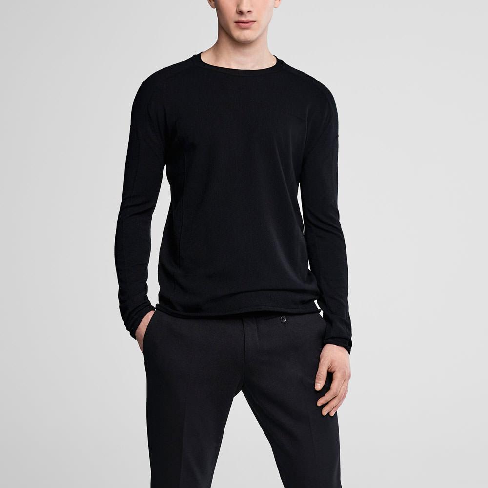 Sarah Pacini Crewneck sweater with overstitching Front