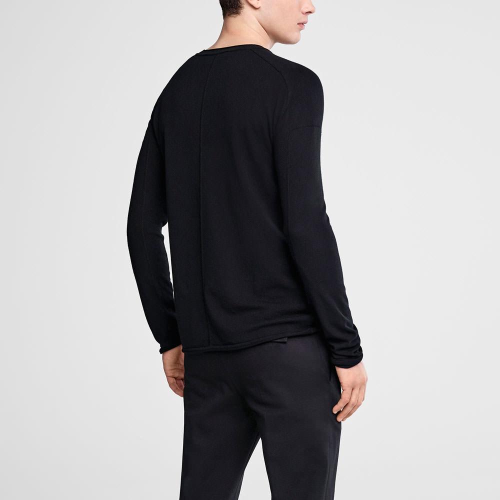 Sarah Pacini Crewneck sweater with overstitching Back view