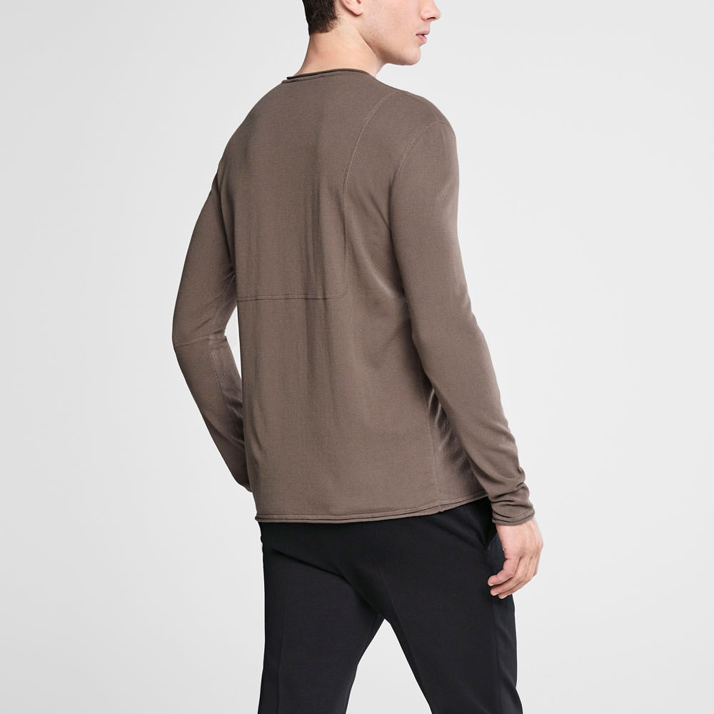 Sarah Pacini Henley sweater Back view