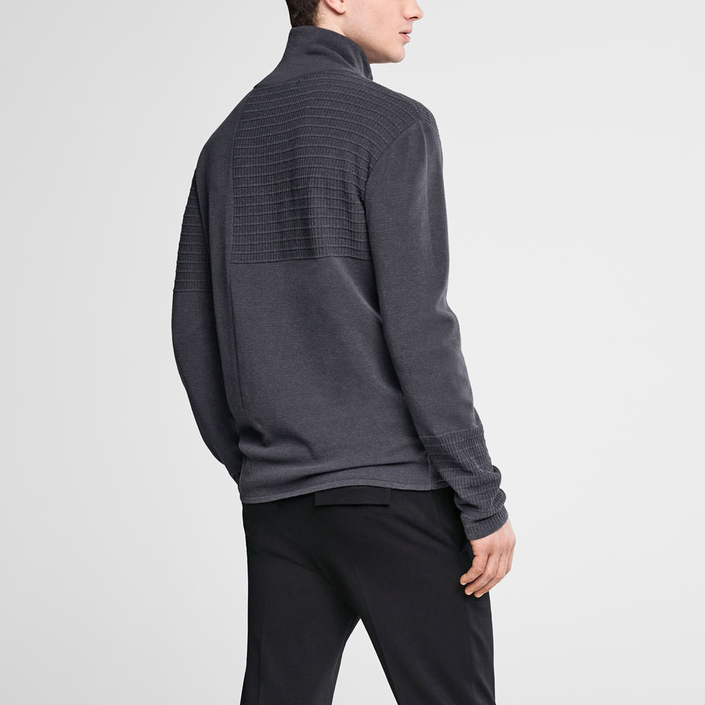Sarah Pacini Mock neck sweater - webbed pattern Back view