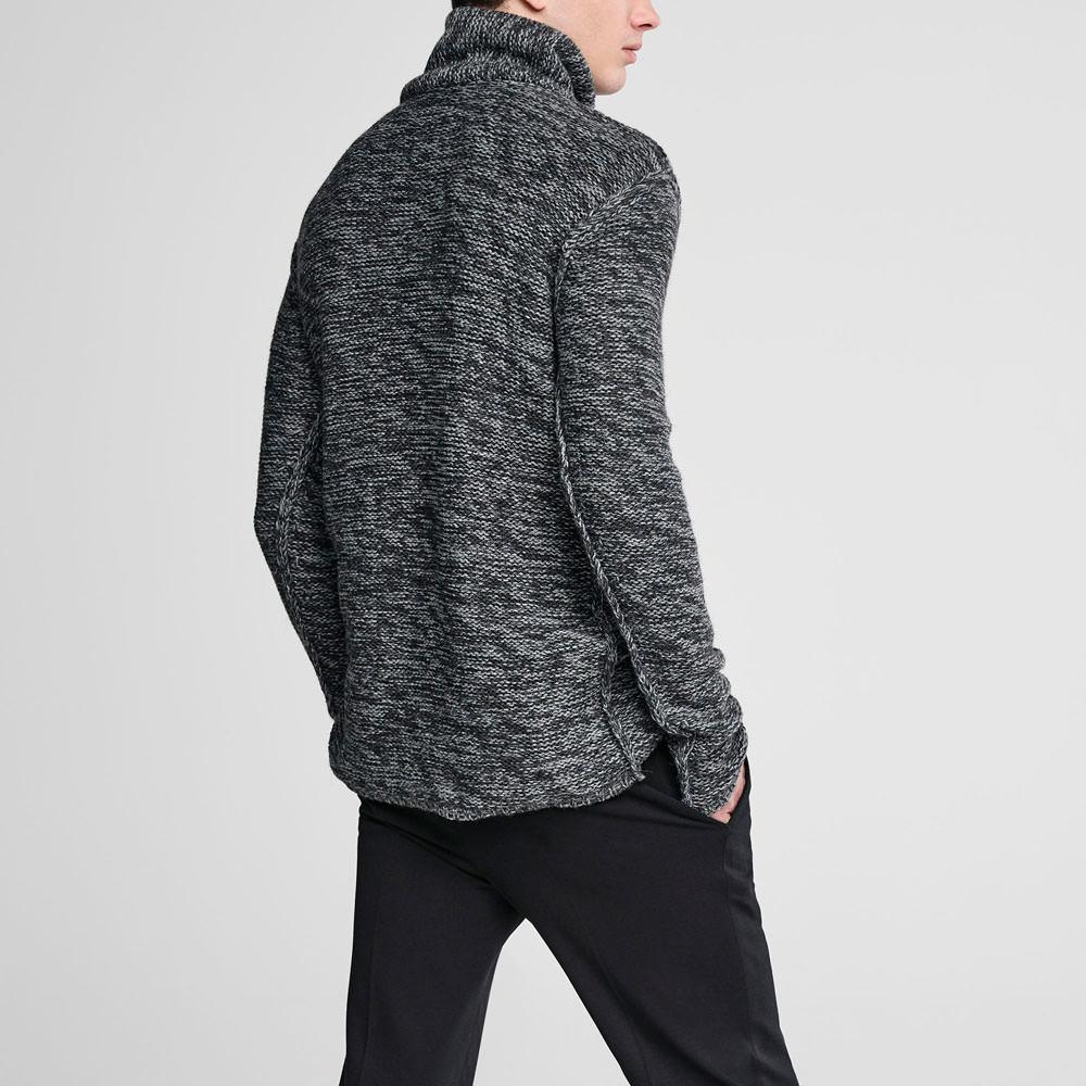 Sarah Pacini Long chiné sweater Back view