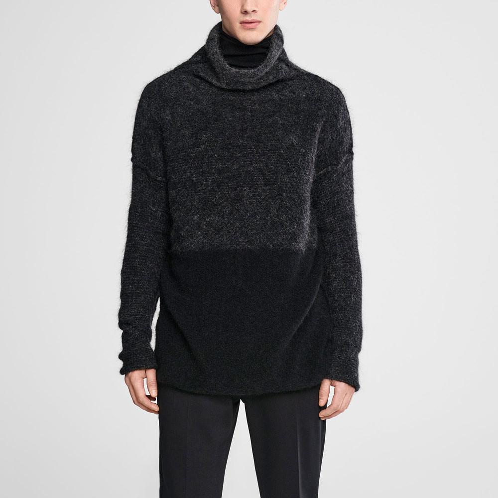 Sarah Pacini Ombré mohair sweater - mock neck Front