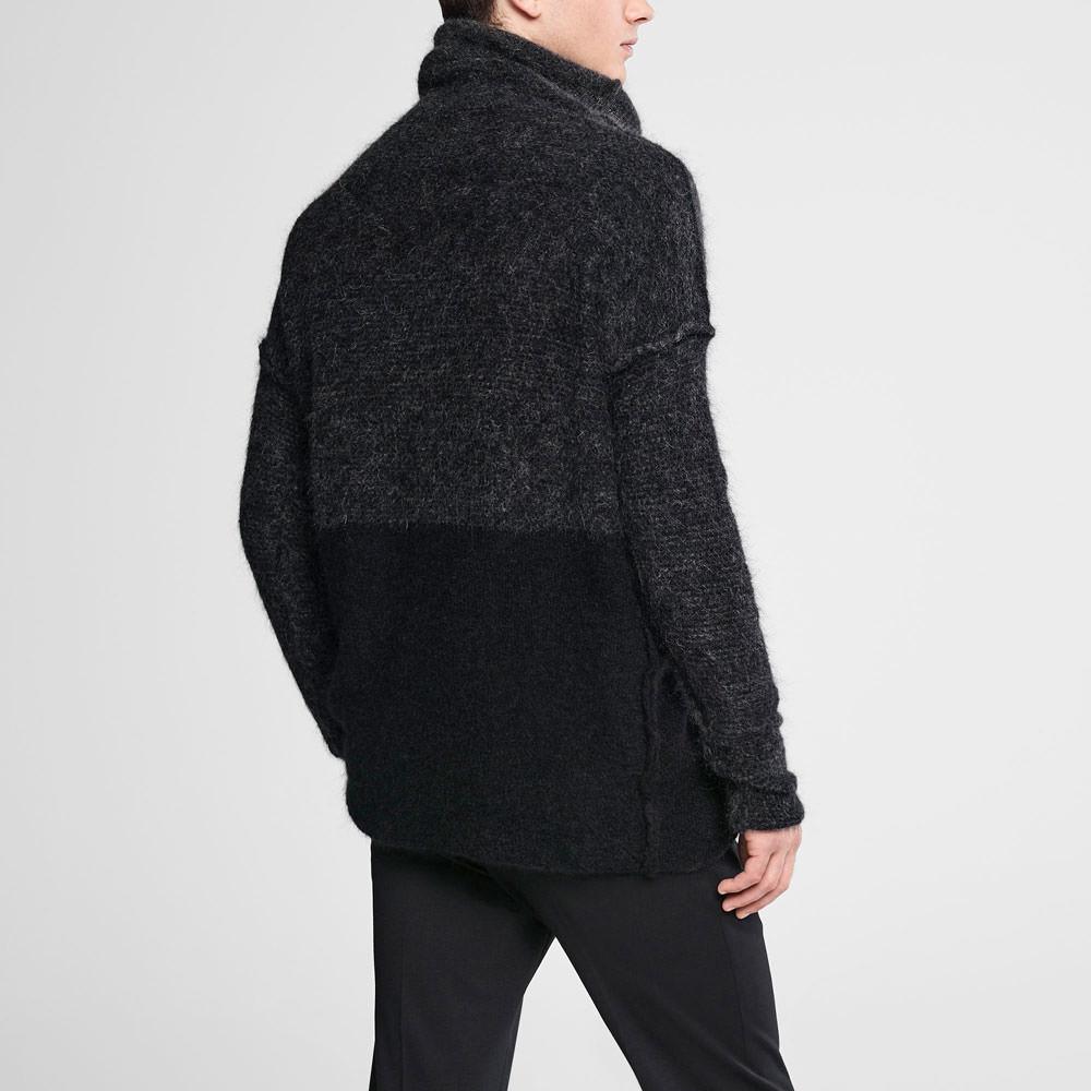 Sarah Pacini Ombré mohair sweater - mock neck Back view