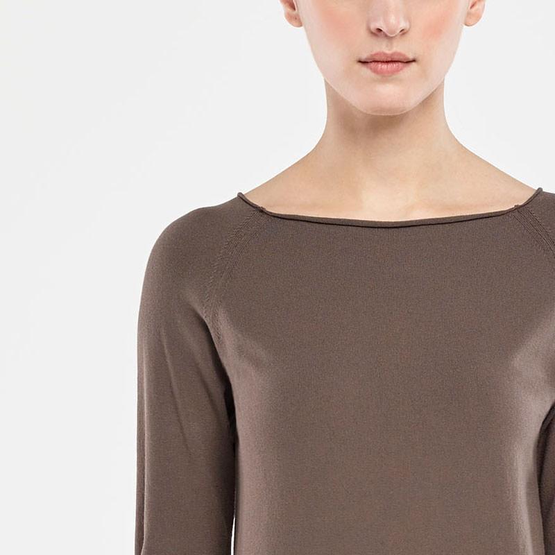 Sarah Pacini BOAT NECK SWEATER Front